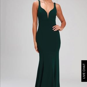 Gorgeous emerald green evening dress - Worn once
